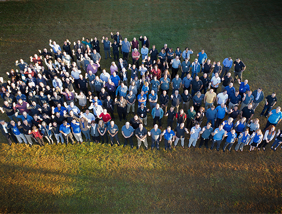 Group aerial photo of ONEIL an ESOP Company