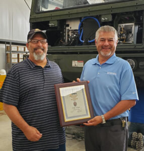Cliff Nuce Presented with Employee of the Quarter